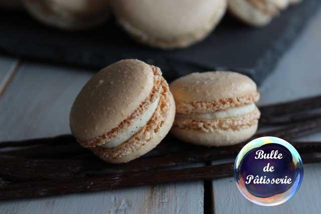 Pâtisserie : macarons à la vanille