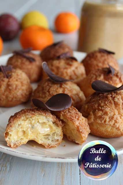 Pâtisserie : les petits choux fourrés à la crème praliné