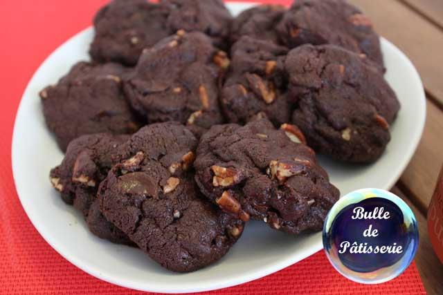 Recette : cookies tout chocolat et noix de pécan
