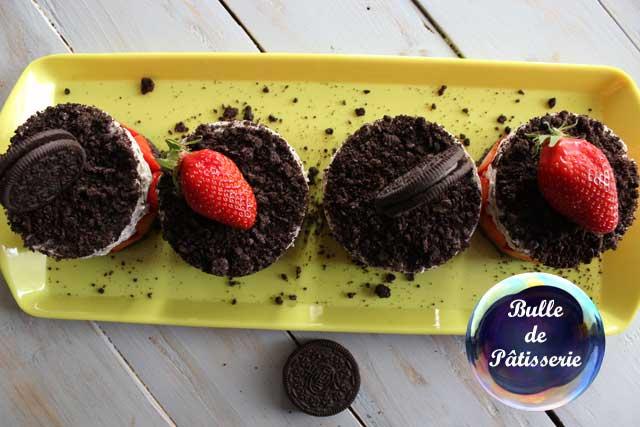 Dessert rapide : cheesecake sans cuisson fraises-oréos