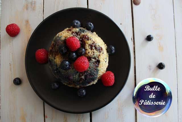 Recette Healthy : Bowl Cake Myrtilles-Chocolat