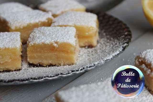 Petits biscuits : carrés au citron