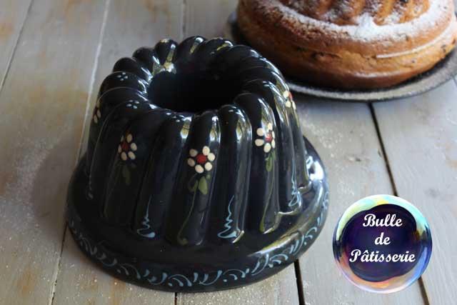 Moule à Kouglof en poterie alsacienne - peint à la main