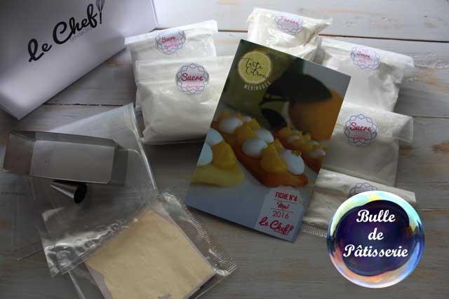 Coffret Pâtisserie Le Chef en Box : tarte au citron