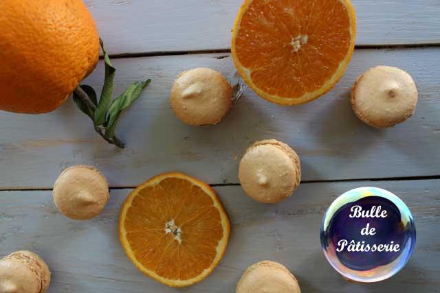 Pâtisserie : Macarons Orange-Chocolat noir