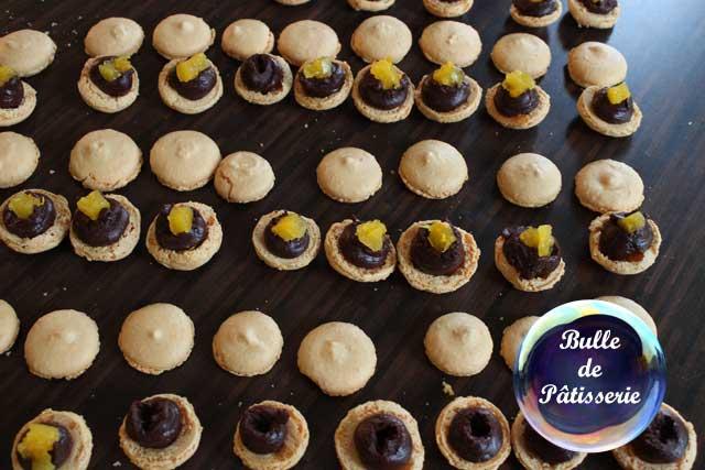 Réalisation des macarons Orange-Chocolat noir
