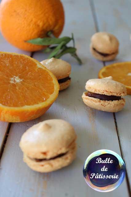 Recette : macarons Orange-Chocolat noir
