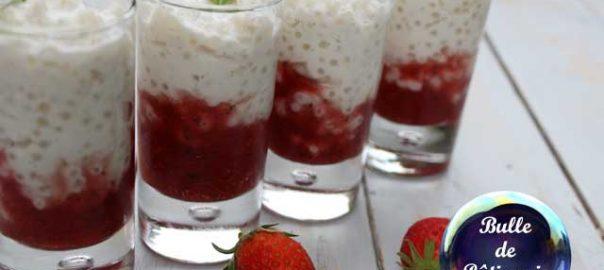Recette : verrines Perles du japon - Coco - Fraises