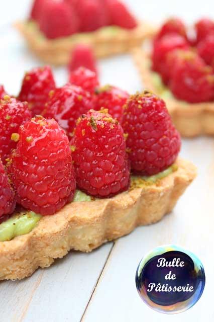 Recette facile : Tarte framboises-pistaches