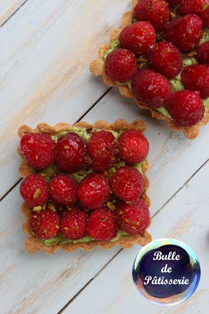 Dessert d'été : Tarte framboises-pistaches
