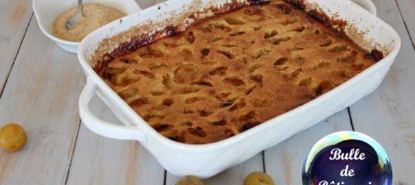 Recette facile : clafoutis aux prunes mirabelles
