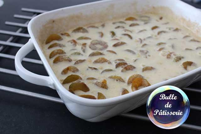Préparation du clafoutis aux prunes mirabelles