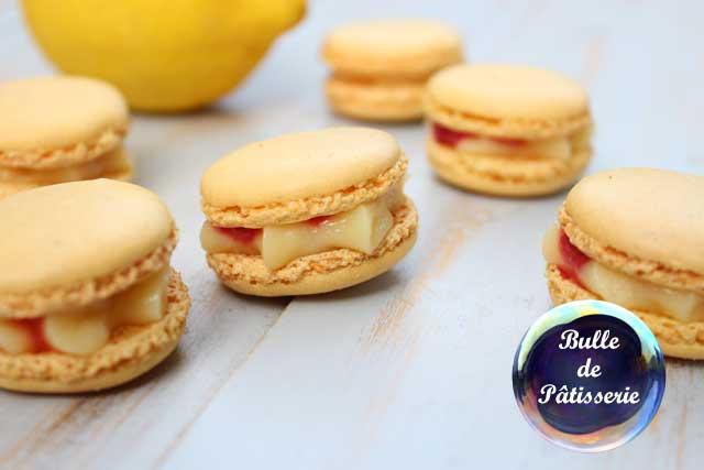 Pâtisserie d'été : macarons citron-framboises