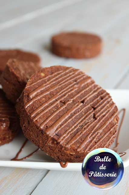 Biscuits : sablés noisettes-chocolat
