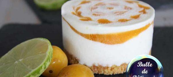 Recette d'été : cheesecake glacé mangue-passion-citron vert