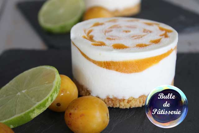 Cheesecake Mangue-Passion-Citron vert glacé