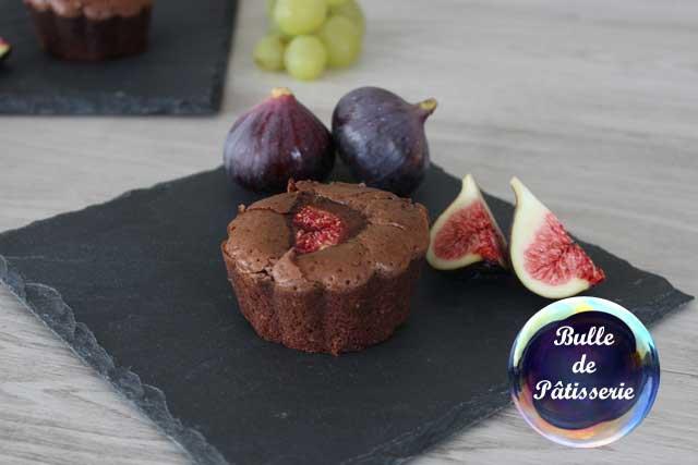 Dessert facile : fondant chocolat-amande-figue