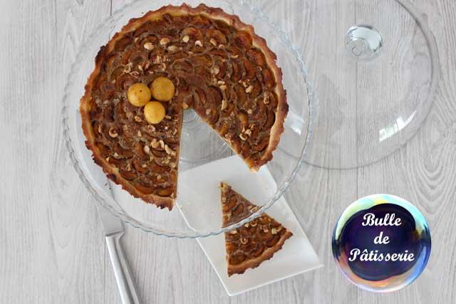 Dessert facile : tarte mirabelles-speculoos