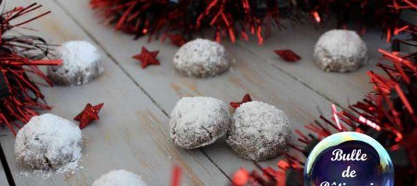 Recette facile de Noël : biscuits boules de neige