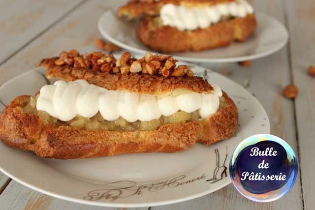Pâtisserie : éclairs poire-amande