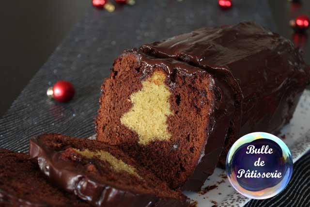 Cake de Noël Surprise coeur sapin