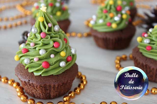 Recette de Noël : Cupcakes en forme de sapin