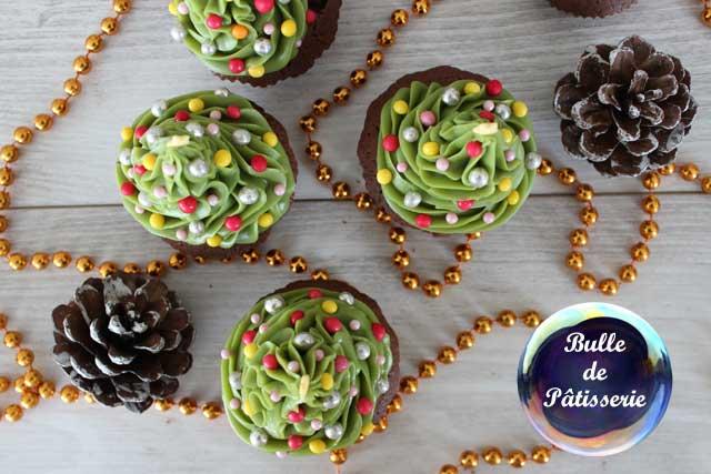 Pâtisserie pour enfants : les cupcakes Sapins de Noël