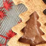 Sablés de Noël coeur chocolat-praliné