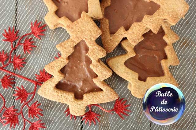 Pâtisserie facile : sablés de Noël coeur Chocolat-Praliné