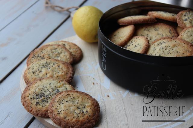 petits biscuits aux 2 citrons et graines de pavot recette facile. Black Bedroom Furniture Sets. Home Design Ideas