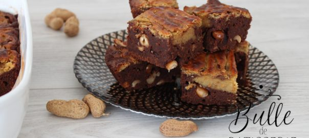 Recette facile : brownie chocolat-cacahuètes