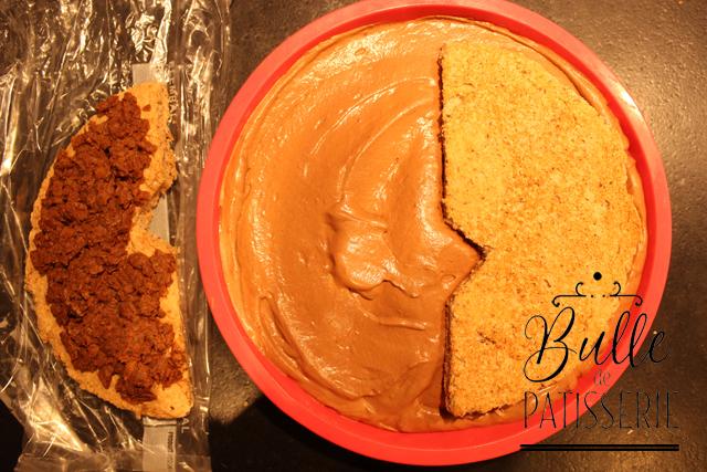 Entremets papillon Chocolat-Caramel-Noisette