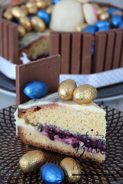 Pâtisserie de Pâques : Sponge Cake - Ganache Chocolat blanc et myrtilles