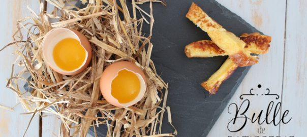 Dessert de Pâques : Oeuf Coque et ses mouillettes - Panna Cotta mangue et Brioche Perdue