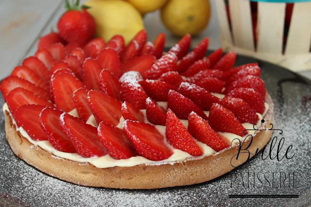 Pâtisserie estivale : tarte fraises-citron