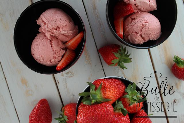 Pâtisserie facile : glace à la fraise