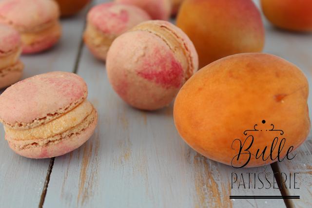 Pâtisserie glacée : macarons à l'abricot