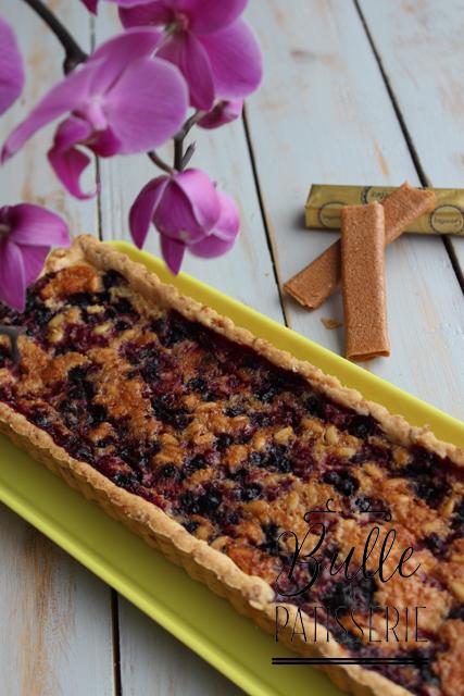 Pâtisserie rapide : Tarte aux fruits rouges et pignons de pin