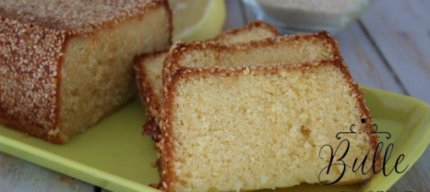 Recette facile : cake citron-sésame blanc