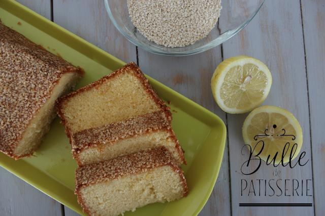 Pâtisserie gourmande : cake citron-sésame blanc