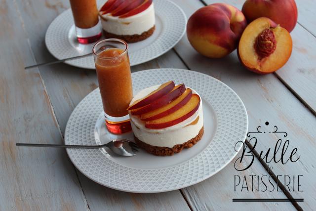 Dessert sans cuisson : cheesecake aux nectarines