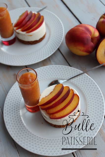 Recette sans cuisson : cheesecake aux nectarines