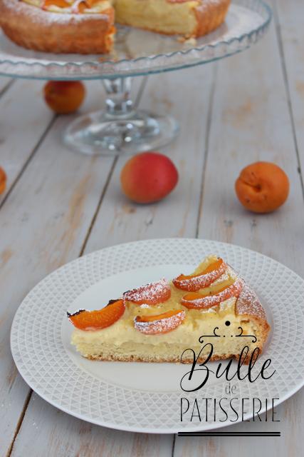 Dessert brioché aux abricots