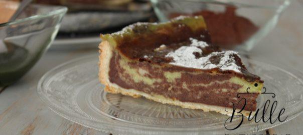 Pâtisserie facile : Zebra flan chocolat-pistache