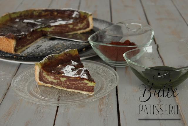 Dessert gourmand : zebra flan chocolat-pistache