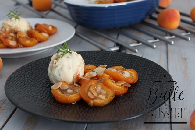 Recette facile : abricots rôtis au romarin