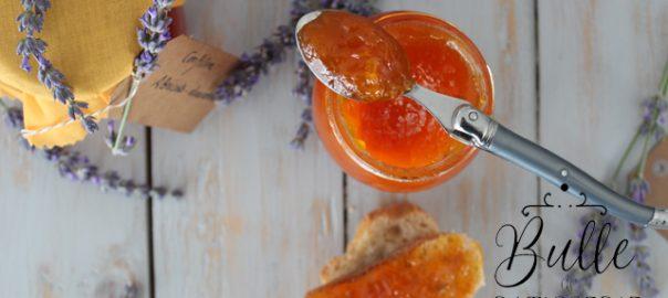 Recette de confiture maison : abricots-lavande