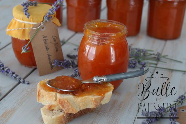 Confiture maison facile : Abricots-Lavande