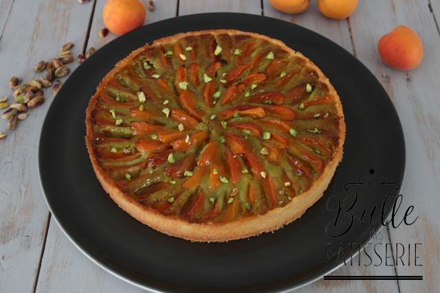 Pâtisserie facile : tarte abricots et pistaches