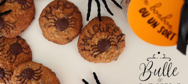 Goûter d'Halloween : Cookies Araignées Chocolat-Banane